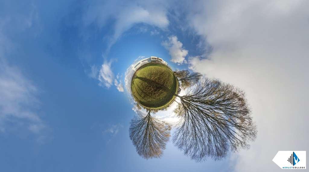 little planet foto Merletcollege Cuijk wadi